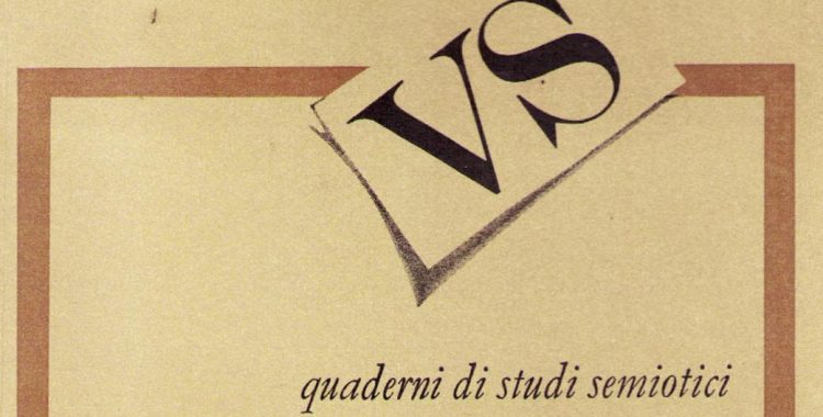 Call for papers Versus Quaderni di studi semiotici